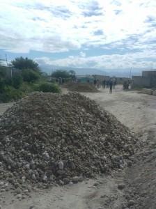 Croix des Bouquets road construction3