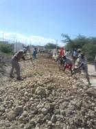 Croix des Bouquets road construction4